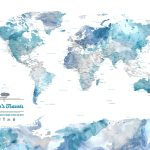 Blue-Watercolour-World-Map-with-Compass