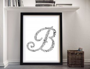 Custom Lettering Art Prints