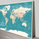 Personalised-Oceanic-Green-Push-Pin-Map