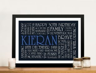 Buy Birthday Inspiration Bespoke Framed Wall Art