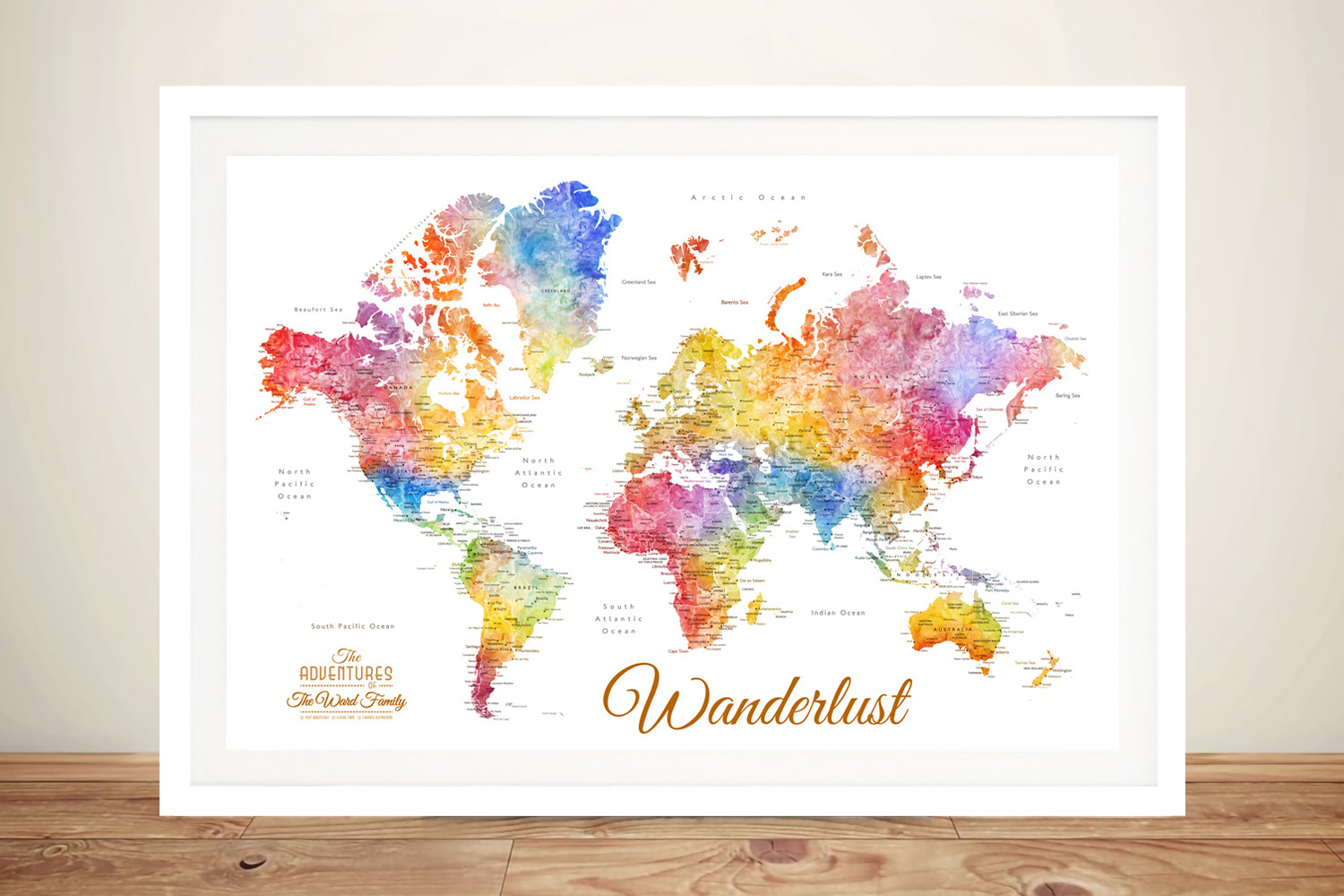 Personalised Pushpin Maps