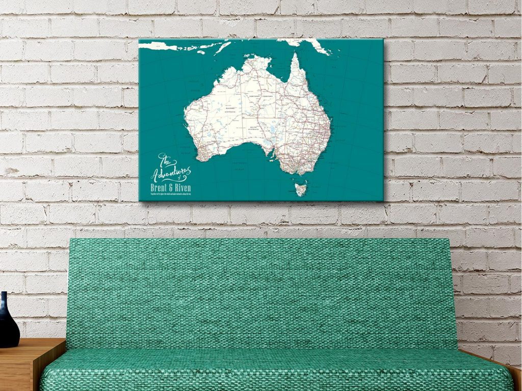Australia Pinboard Canvas Artwork