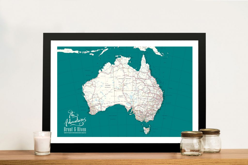 Personalised Australia Pinboard Map Wall Art
