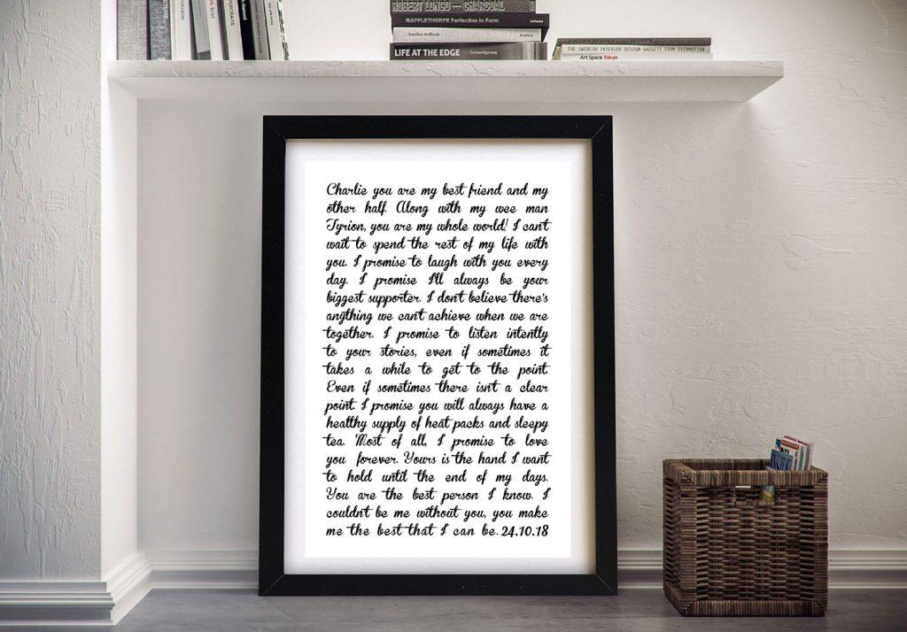 Buy Personalised Wedding Vows Word Art