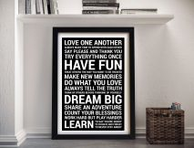 House Rules Bold Black Framed Wall Art