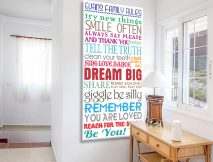 House Rules Multi Font Tram Scroll Canvas Artwork