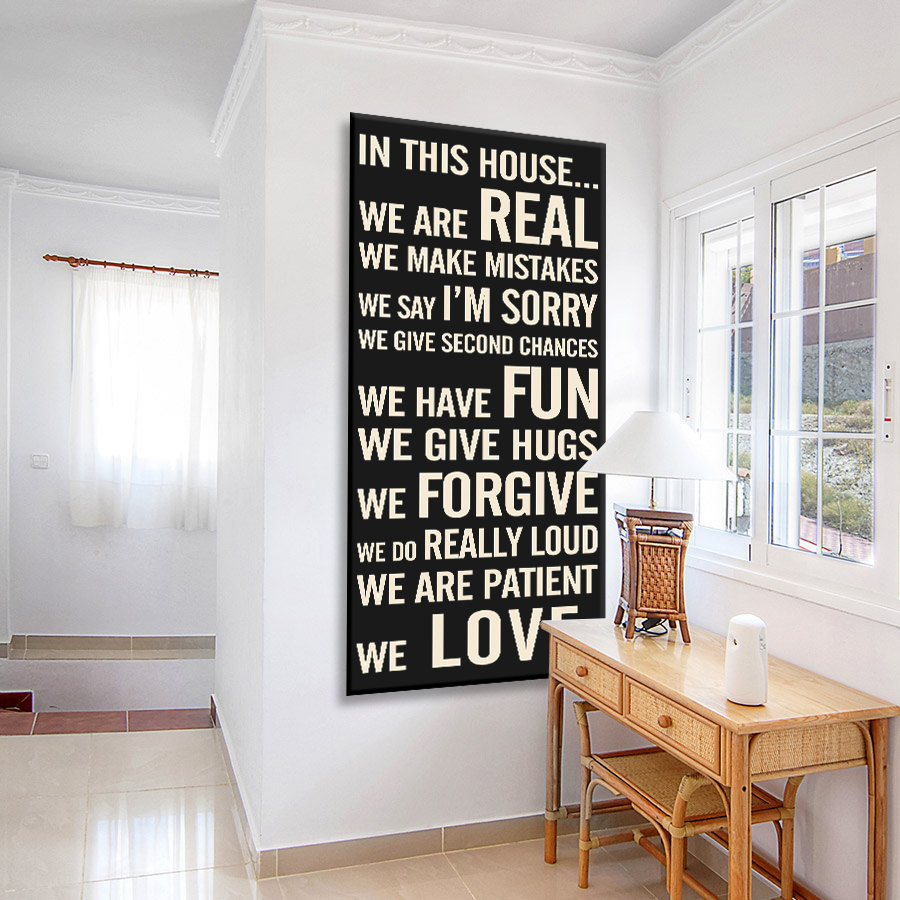 Personalised House Rules Tram Scroll