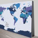 Buy-a-Blue-&-Gold-Custom-Map-Canvas-Print