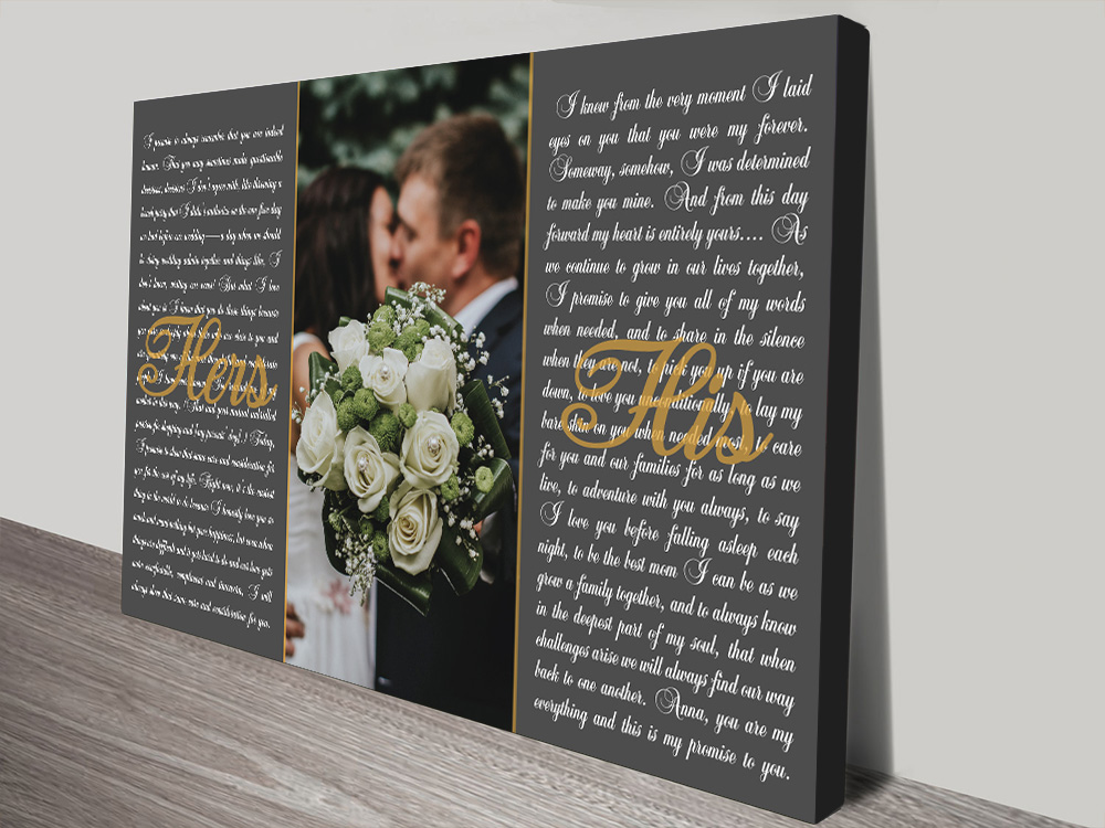 Wedding Vows Artwork | His and Hers Wedding Vows