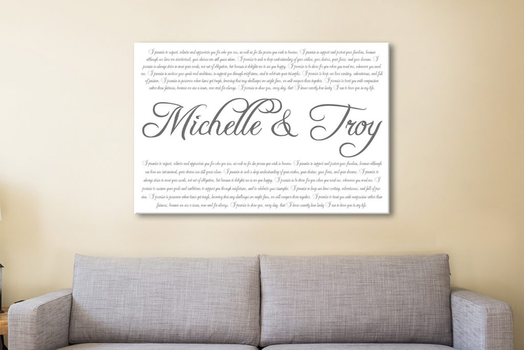 Design your own Wedding Vows Wall Art