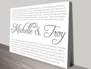 Wedding Vows Custom Word Art