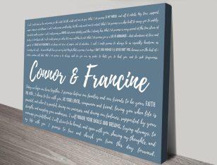 Design your own Wedding Vows Word Art
