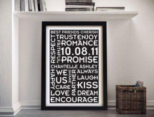 Buy Wedding Promises Personalised Wall Art