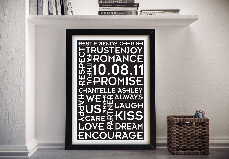 Buy Wedding Promises Personalised Wall Art | Wedding Promises