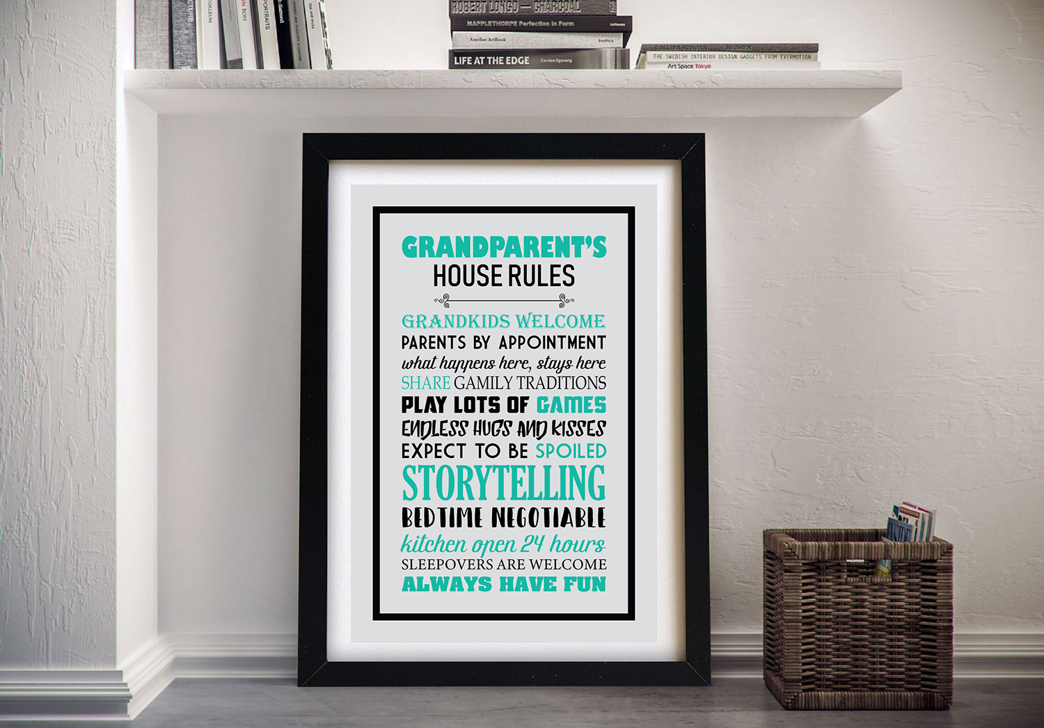 Buy House Rules the Perfect Gift for Grandparents | House Rules – Blue & Black