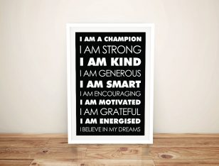 Buy Daily Affirmations Framed Canvas Wall Art