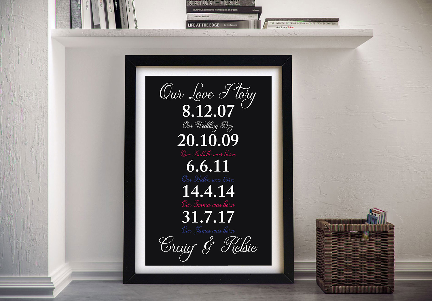 Love Story Framed Wall Art   Our Love Story