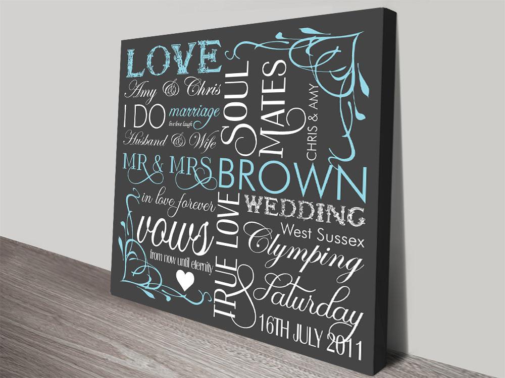 Buy Last Minute Wedding Artwork Gift Art