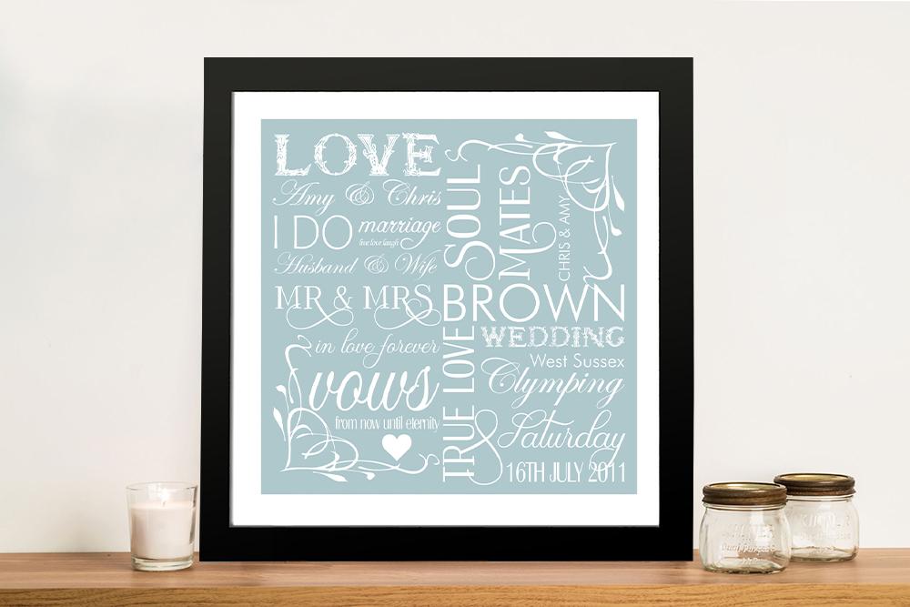 Framed Wedding Artwork Gift