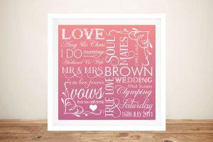 Wedding Day PersonalisedWord Art