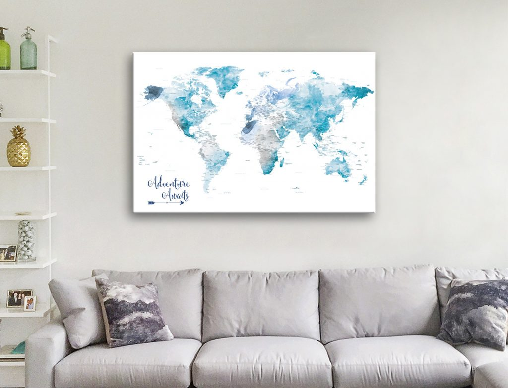 Buy Unique World Map Wall Art Great Gift Ideas