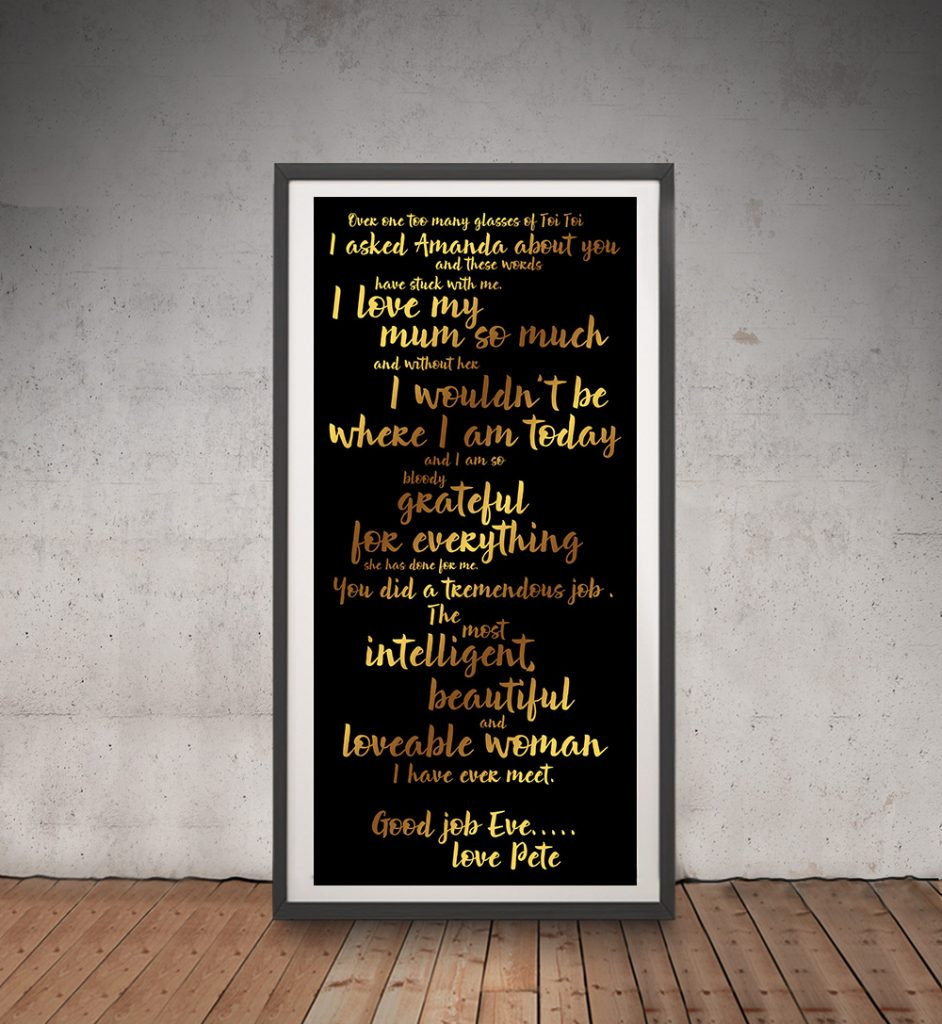 Personalised Poems & Quotes Tram Scroll