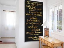 Personalised Quote canvas artwork