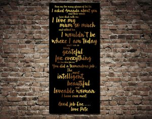 Personalised Quote canvas print
