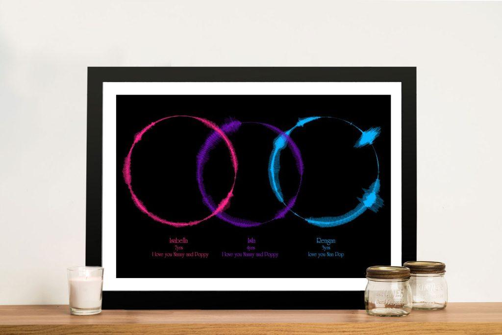 Personalised Soundwave Framed Wall Art