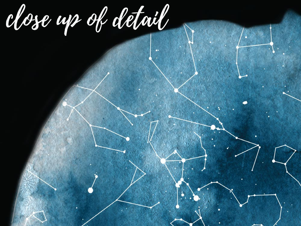 Personalised Star Map Style 14