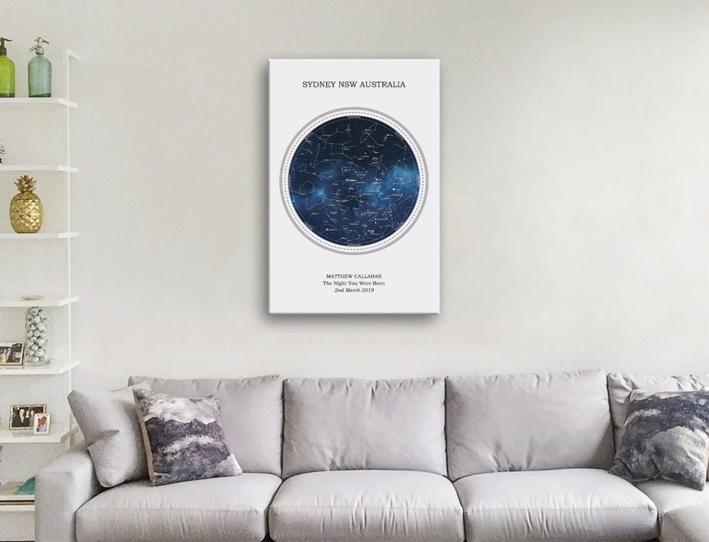 Personalised Star Map Style 1