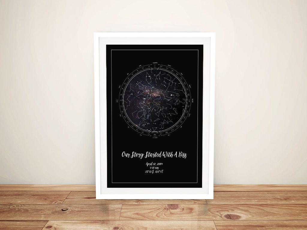 Custom Star Map of the Night Sky