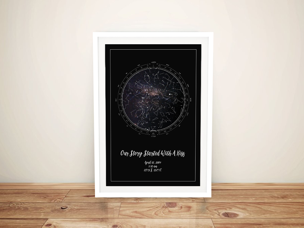 Custom Star Map of the Night Sky | Personalised Star Map Style 2