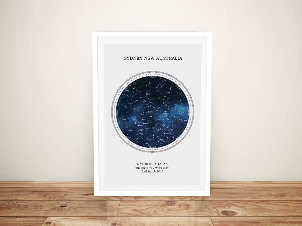 Bespoke Star Maps of the Night Sky | Personalised Star Map Style 1