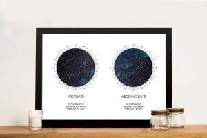 Buy Dual Star Chart Personalised Artwork