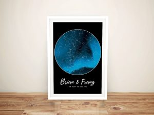 Northern Lights Star Map Framed Wall Art