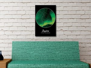 Northern Lights Star Map Framed Wall Art Brisbane