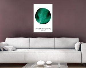 Personalised Northern Lights Star Map