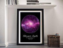 Buy Purple Cosmos Wall Art Baby Gift Ideas
