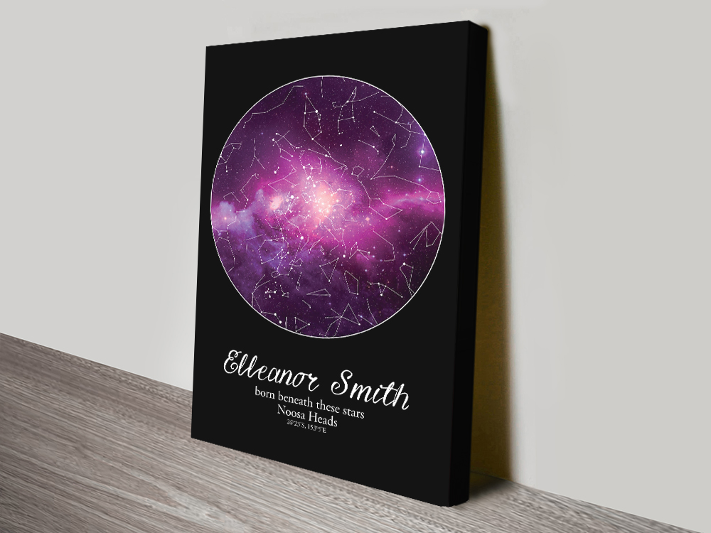 Buy Affordable Personalised Star Chart Wall Art