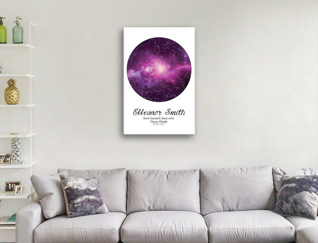 Buy Unique Customisable Star Chart Canvas Art