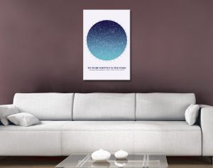 Star Map Canvas Art