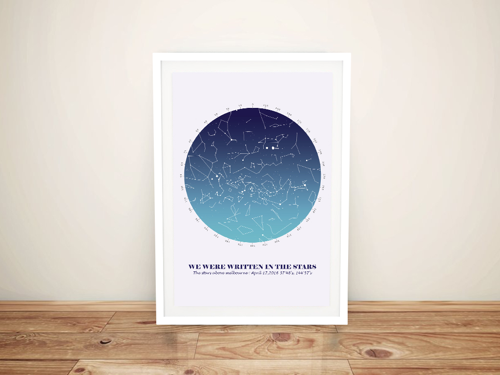 Create Your Own Custom Star Map‎ Wall Art | Personalised Star Map Style 16