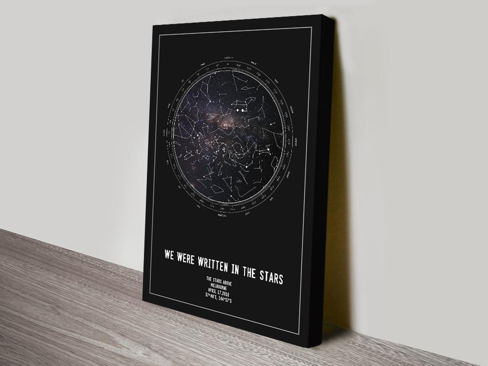 Personalised Framed Star Map Art Australia