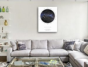 Customised Star Map Canvas Prints