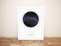 Buy Custom Star Map Artwork Online