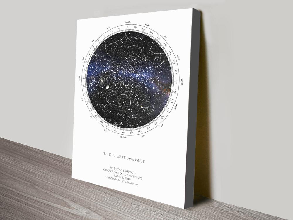Buy Personalised Star Map Art