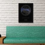Personalised Star Map Style 2 10