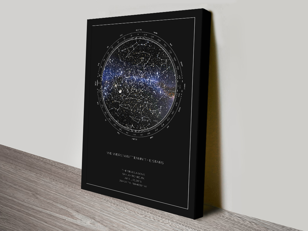 Personalised Star Map Style 2