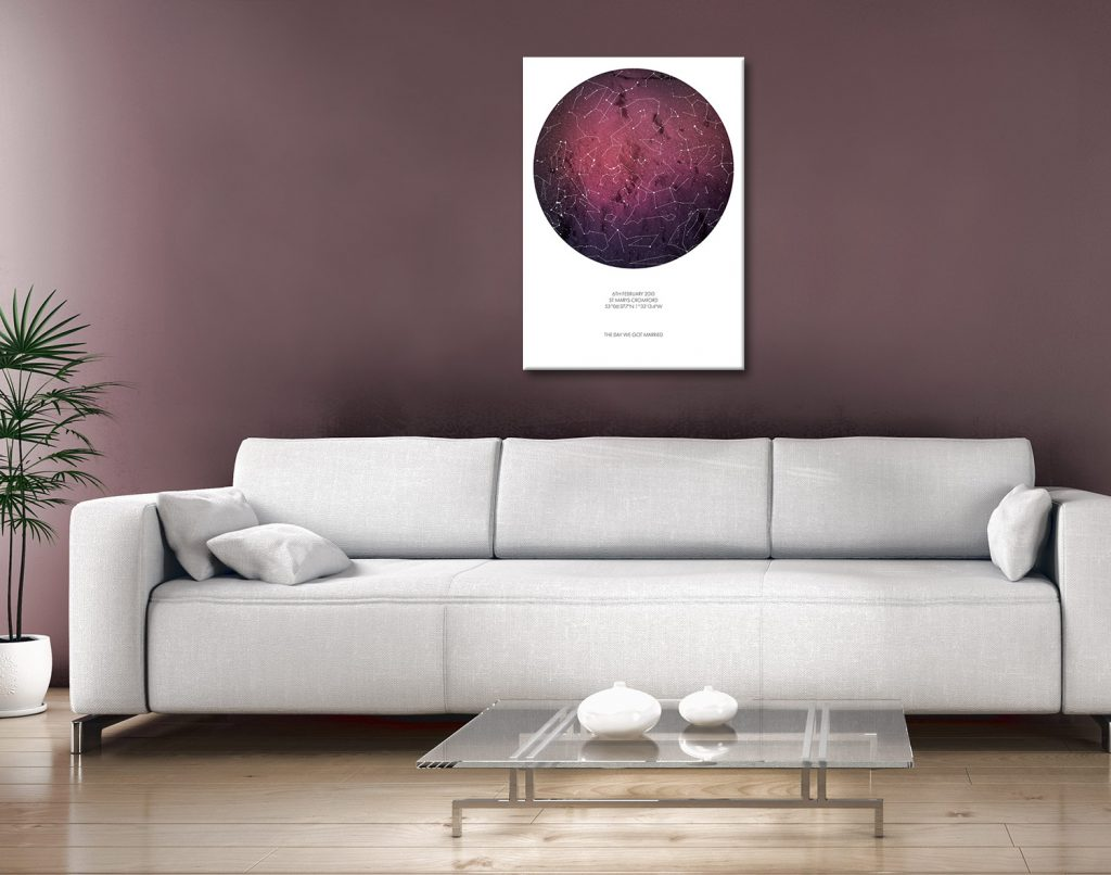 Personalised Star Map Style 6